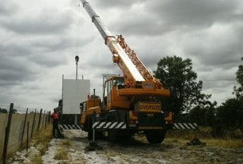 30T Crane In Use on building site